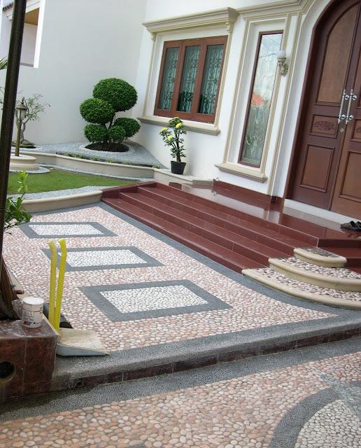 Contoh Lantai Dari Batu Alam Rumah Mnimalis Terbaru 2015 Desain