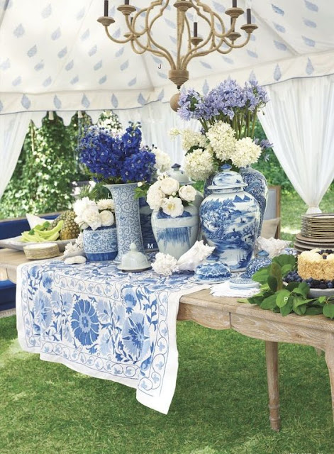 Blue and White Outdoor Spaces - Decor Inspiration