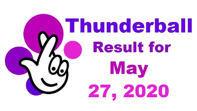 Thunderball Results for Wednesday, May 27, 2020