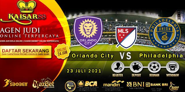 Prediksi Bola Terpercaya Liga (MLS) Orlando City vs Philadelphia Union 23 juli 2021