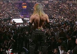 WWE / WWF Royal Rumble 2000 - Jeff Hardy prepares to dive at Madison Square Garden