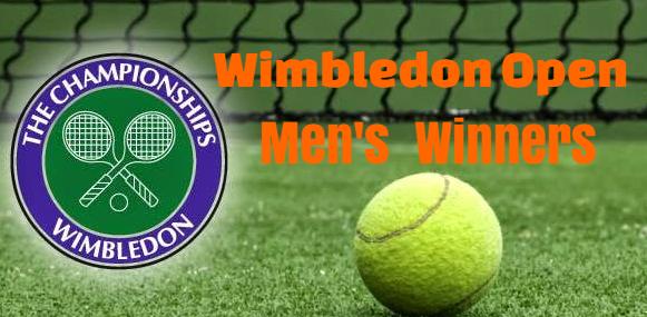 Wimbledon Open, men's singles, winners-champions, list, by year, most wins,  history.
