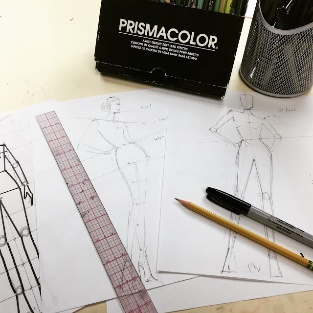 how to draw a fashion croquis video