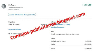 Pago Ex-Foary - Paypal