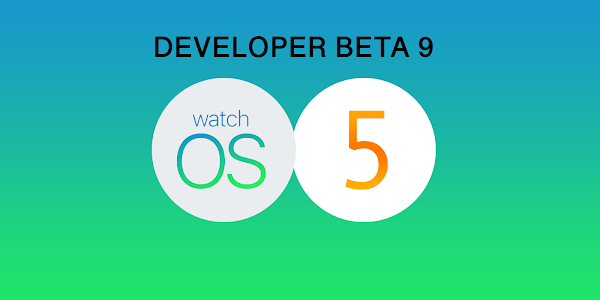Apple watchOS 5 Developer Beta 9 released