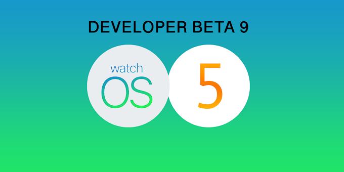 Apple watchOS 5 Developer Beta 9 released
