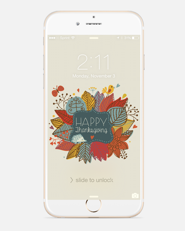 Free Thanksgiving wallpaper