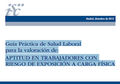 Guía Práctica de Salud Laboral,  valoración de Aptitud,Riesgo de Exposición, Carga Fisica