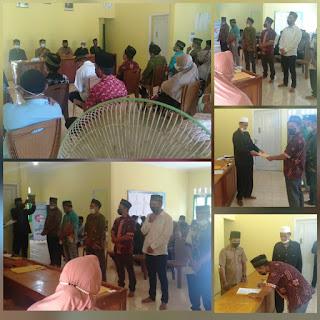 Badan Permusyawaratan Desa(BPD) Desa  Penuba Timur Lantik panitia Pilkades Desa Penuba Timur  kecamatan Selayar