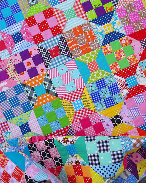 Red Pepper Quilts Spools And Nine Patch Quilt