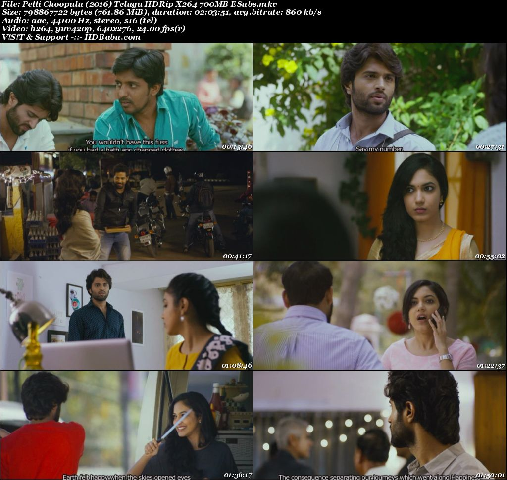 Pelli Choopulu Telugu Full Movie Download