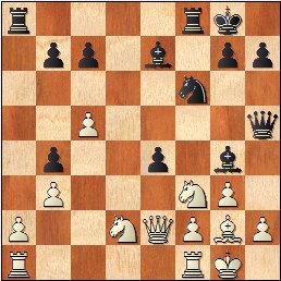 Partida de ajedrez Salvador Vila Sala - Joan Segura Vila, posición después de 17…e4