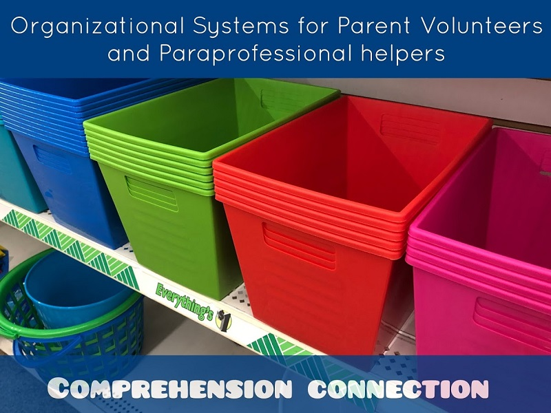 Check out this blog post to view organizational tips for using parent volunteers and paraprofessionals to assist your struggling students.
