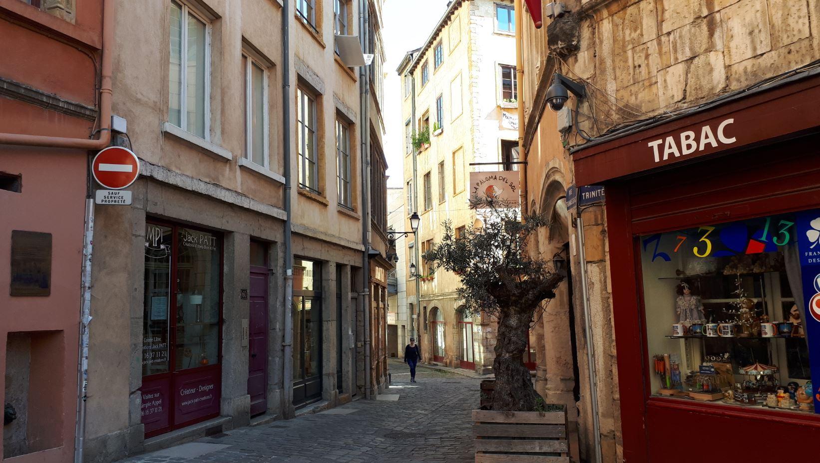 Une ruelle du vieux-Lyon