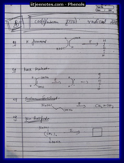 Phenol Notes IITJEE 9