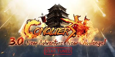شكل كونكر الجديد واشكال الشخصيات الارشر والقرصان والمونك والراهب والنينجا conquer3.0