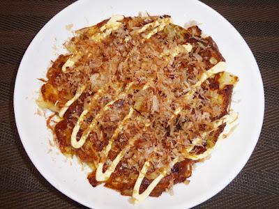納豆と玉ねぎのお好み焼き 和風だししょうゆ味