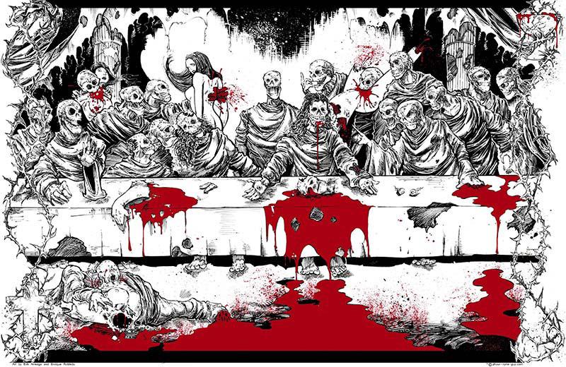 Zombie Last Supper by Erik Arreaga and Enrique Robled