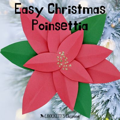 Make this easy poinsettia flower with your kids.