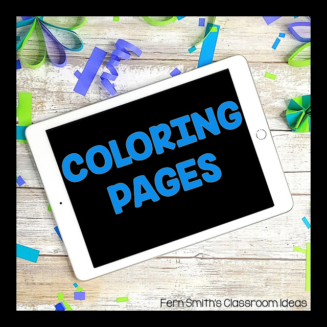 Early Elementary Coloring Pages Pinterest Board. Coloring Pages Pinterest Board. This board has coloring pages, coloring books, coloring eBooks, Color for Fun resources and freebies from Fern at Fern Smith's Classroom Ideas TeacherspayTeachers store. Pre-K, Kindergarten, First Grade, and Second Grade Teachers follow this board for instructional ideas and classroom management tips using coloring book pages. Perfect for home school families and elementary school teachers! Fern Smith ♥