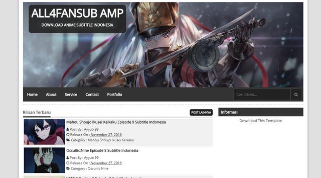 Fansub AMP Blogger Templates