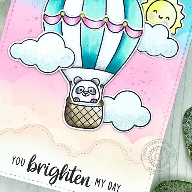 Sunny Studio Stamps: Teacher Appreciation Balloon Rides Fluffy Cloud Border Friendship Card by Julia Englich