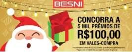 Promoção Besni Natal de Prêmios 2018 Raspadinha - 5 Mil Prêmios 100 Reais