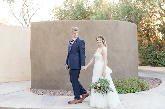 Portico Wedding bride and groom portraits in Gilbert AZ by Micah Carling Photography