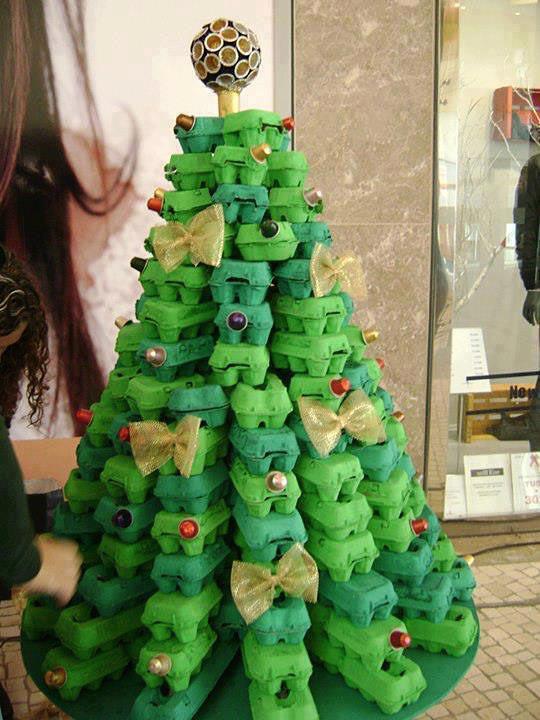 arbol de navidad reciclado manualidad