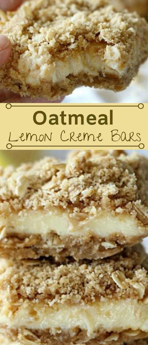 OATMEAL LEMON CREME BARS #desserts #cakes #bars #lemon #oatmeal