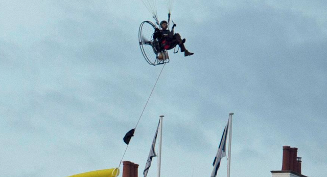TRUMP BREACH: Donald Trump security scare as Greenpeace protester paraglides over his head under noses of elite snipers