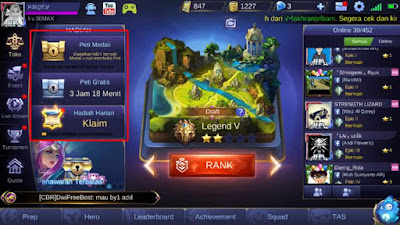 Meningkatkan Level Emblem dengan Membuka Peti Gratis