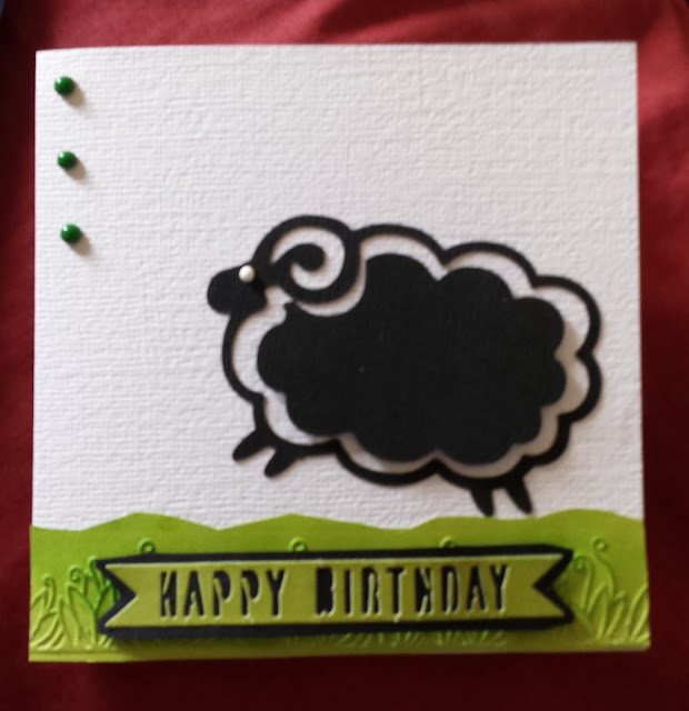 Happy birthday to Ewe - black sheep 144mm square card