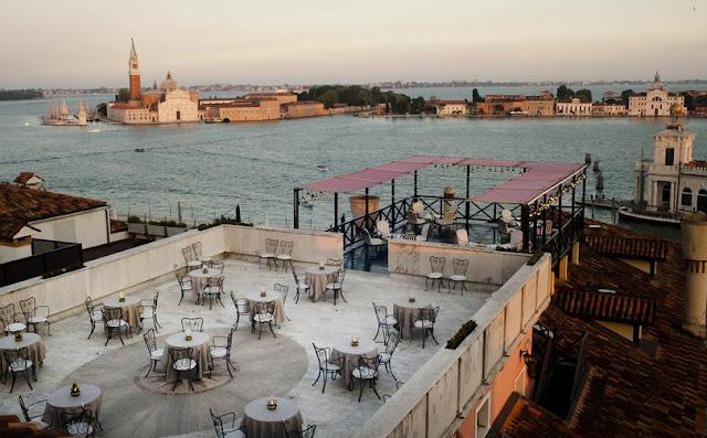 Terraço de hotel em Veneza