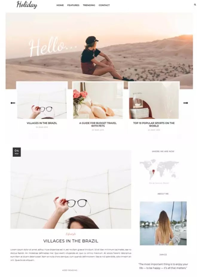 Holiday blogger theme