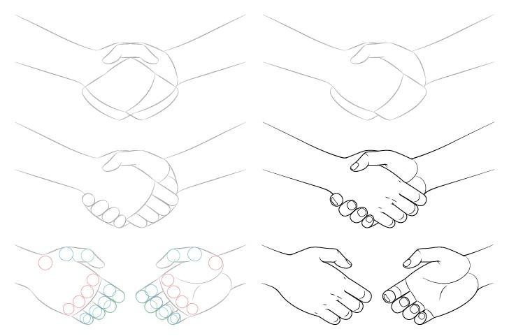 Gambar jabat tangan selangkah demi selangkah