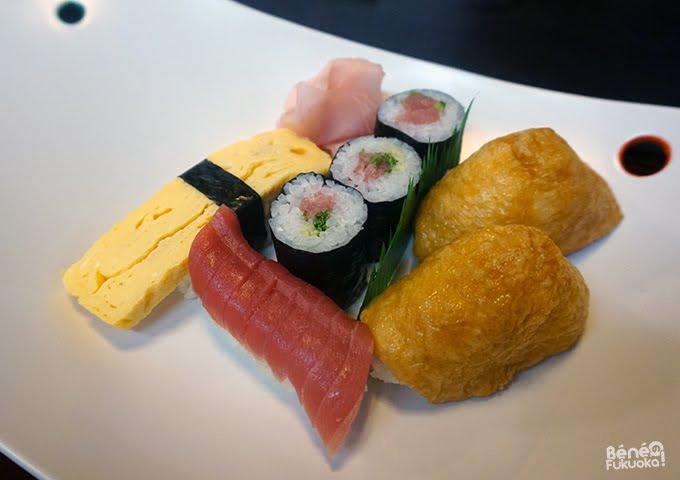 Assortiments de sushis, Akune, Kagoshima