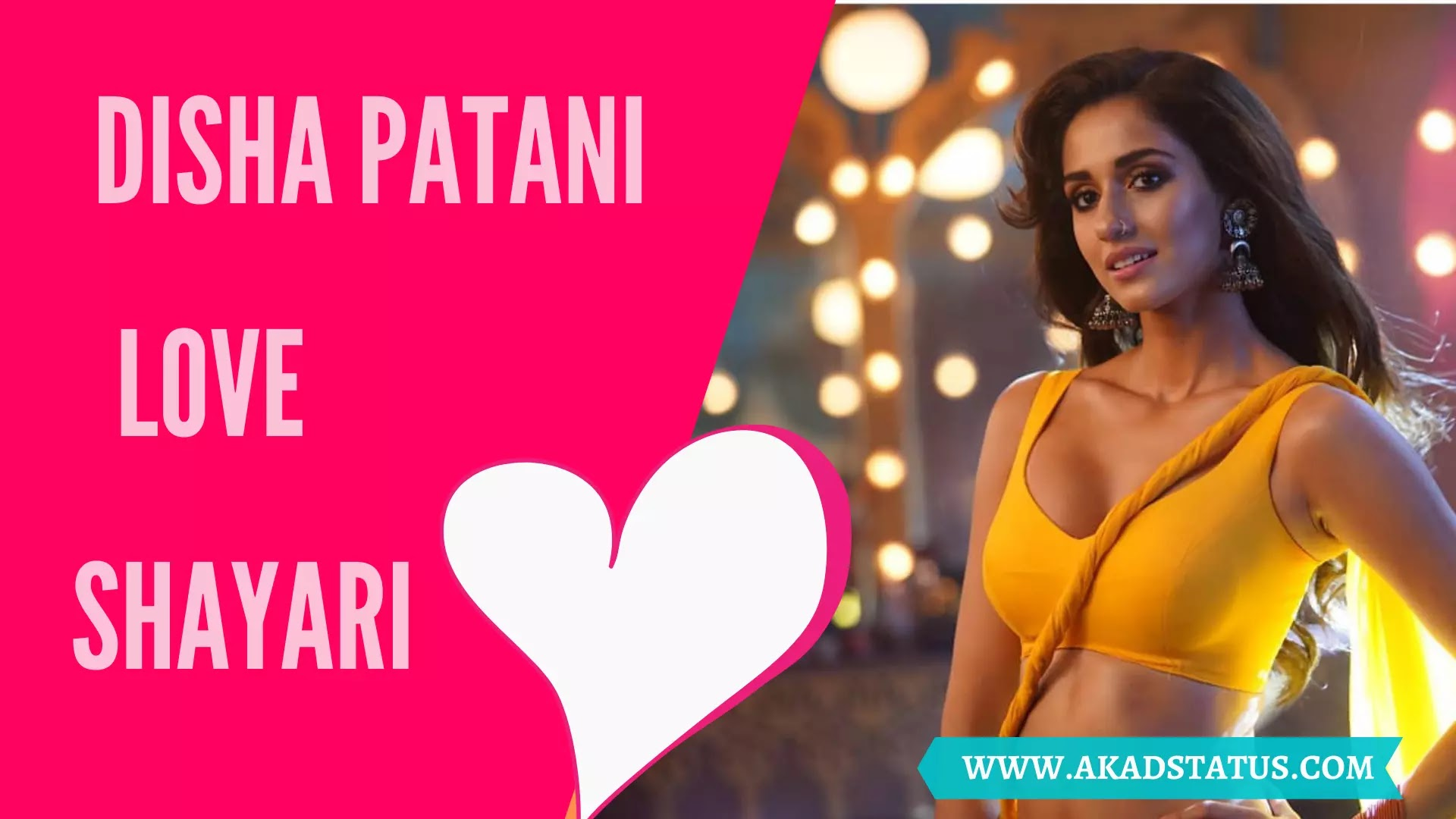 Disha Patani Shayari In Hindi, Disha Patani Shayari Pic