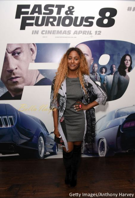 "DJ Cuppy & Sister Olawumi Otedola spotted at a ""Fast & Furious 8"" Special Screening in London"