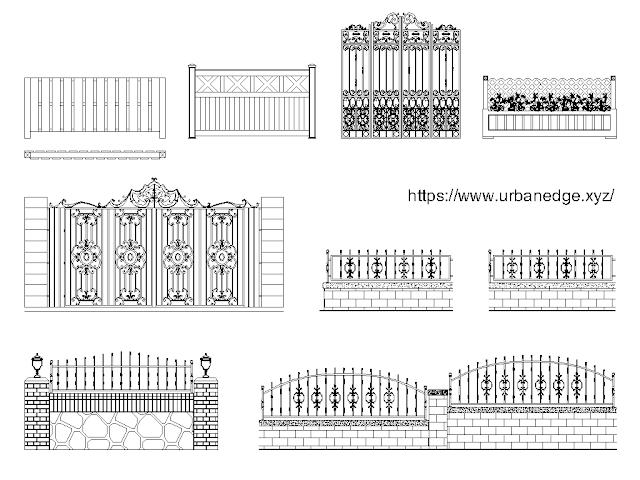 Gates and fences free cad blocks download - 10+ free cad blocks