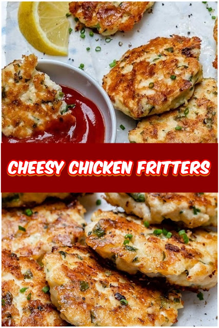 #Cheesy #Chicken #Fritters