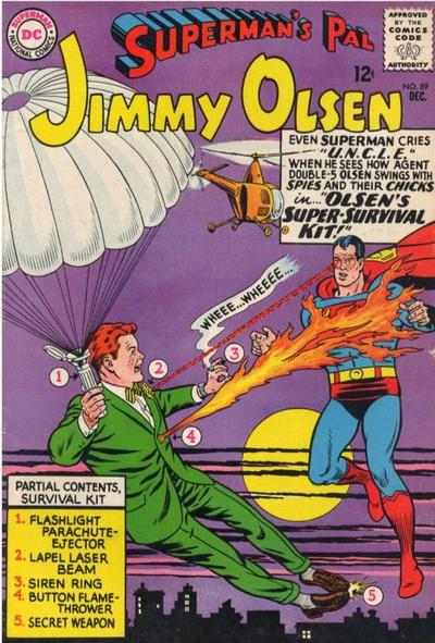 Episode #390 Part I: Superman Family Comic Book Cover Dated December 1965: Superman's Pal Jimmy Olsen #89!