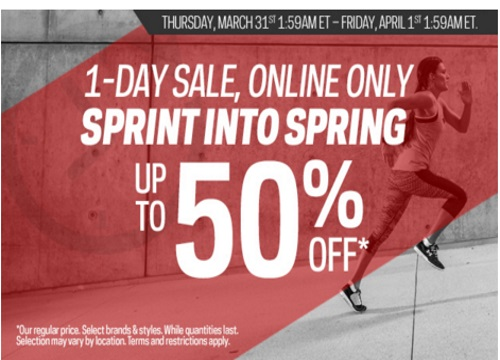 Sportchek Flash Sale Sprint Into Spring Up To 50% Off