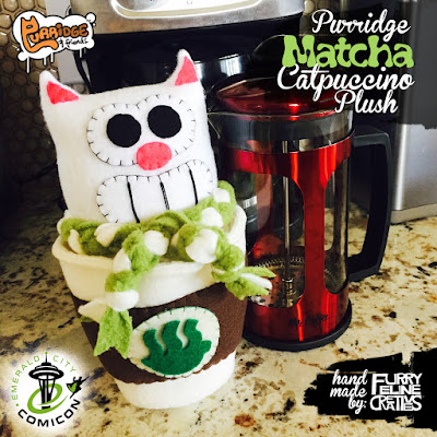 Emerald City Comicon 2017 Exclusive Purridge Matcha Catpuccino Edition Plush by Furry Feline Creatives