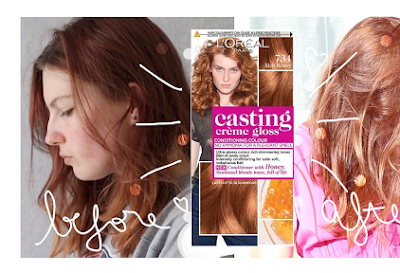 I DYE MY HAIR AMBER - L'Oréal Casting Creme Gloss 734 Rich Honey (Amber Honey)