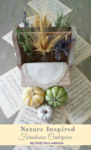 Nature inspired fall farmhouse centerpiece