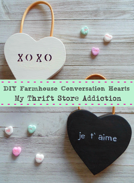 DIY farmhouse conversation hearts