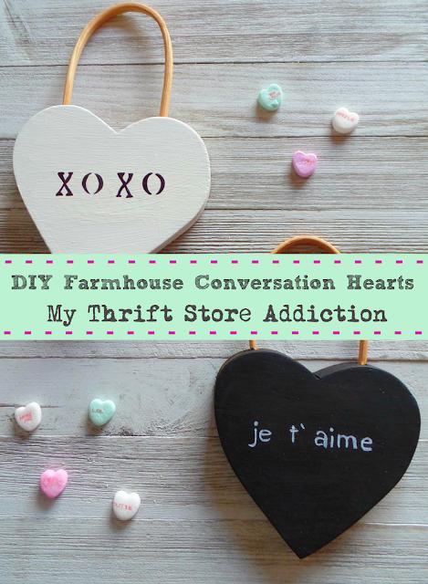 DIY farmhouse conversation hearts