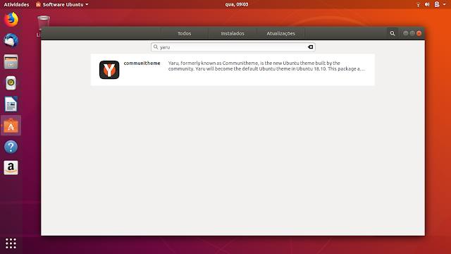 Instalando o novo tema Yaru no Ubuntu