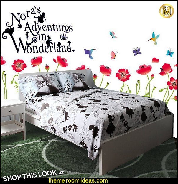 Disney Alice In Wonderland Alice bedding  Alices Adventures in Wonderland decal Stickers